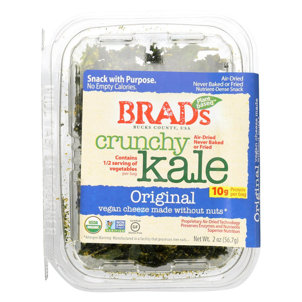 Brad's Plant Based - Crunchy Kale - Original - Case of 12 - 2 oz.