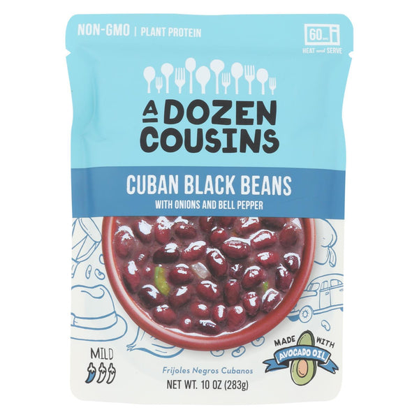 A Dozen Cousins - Ready to Eat Beans - Cuban Black - Case of 6 - 10 oz.