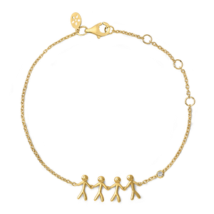 Fine - Family 4 bracelet - solid gold