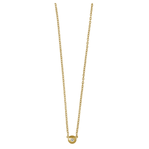 Iris necklace - solid gold