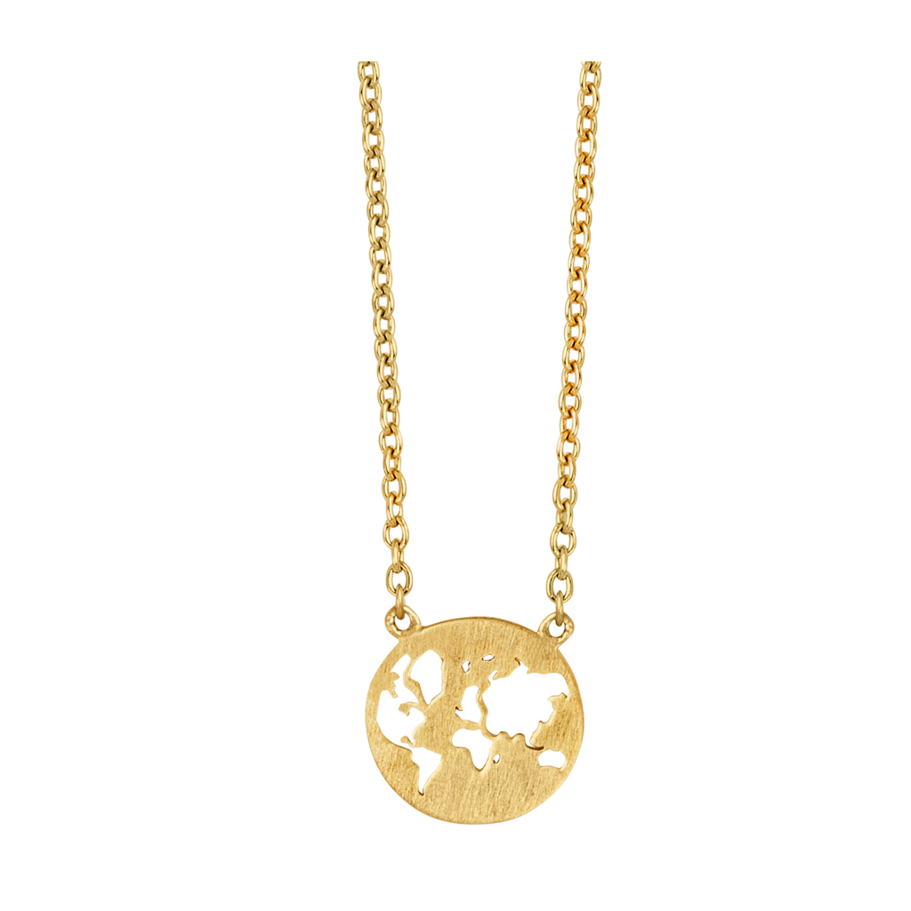 Fine - Beautiful World necklace - soild gold