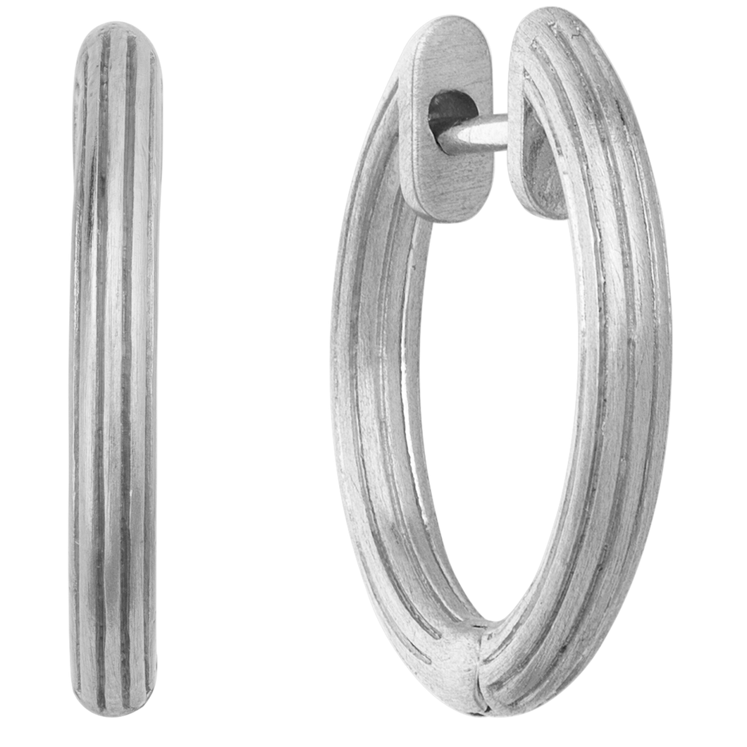 Isla hoops small - silver