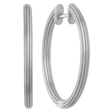 Load image into Gallery viewer, Isla hoops large - silver