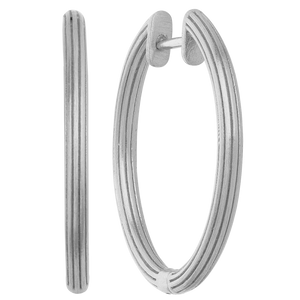 Isla hoops large - silver