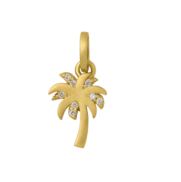 Palm pendant - gold