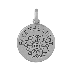 Face The Light pendant - silver