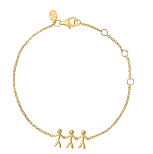 Together Family 3 armbånd - gold
