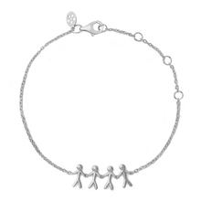 Load image into Gallery viewer, Together Family 4 bracelet - silver