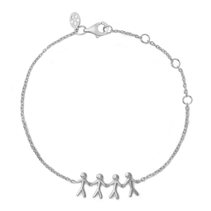 Together Family 4 armbånd - silver