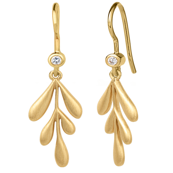 Forest earring - gold