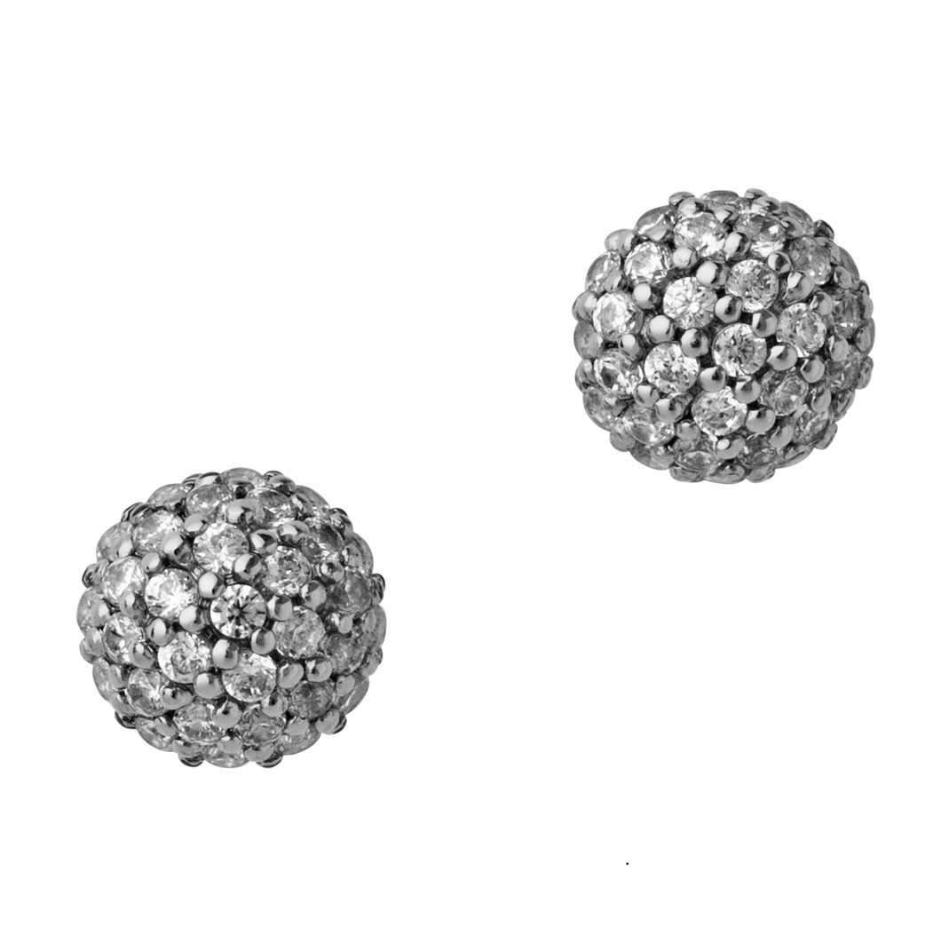 Miniature sparkle earring - silver