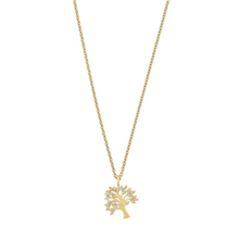 Load image into Gallery viewer, Tree of Life sparkle necklace - gold