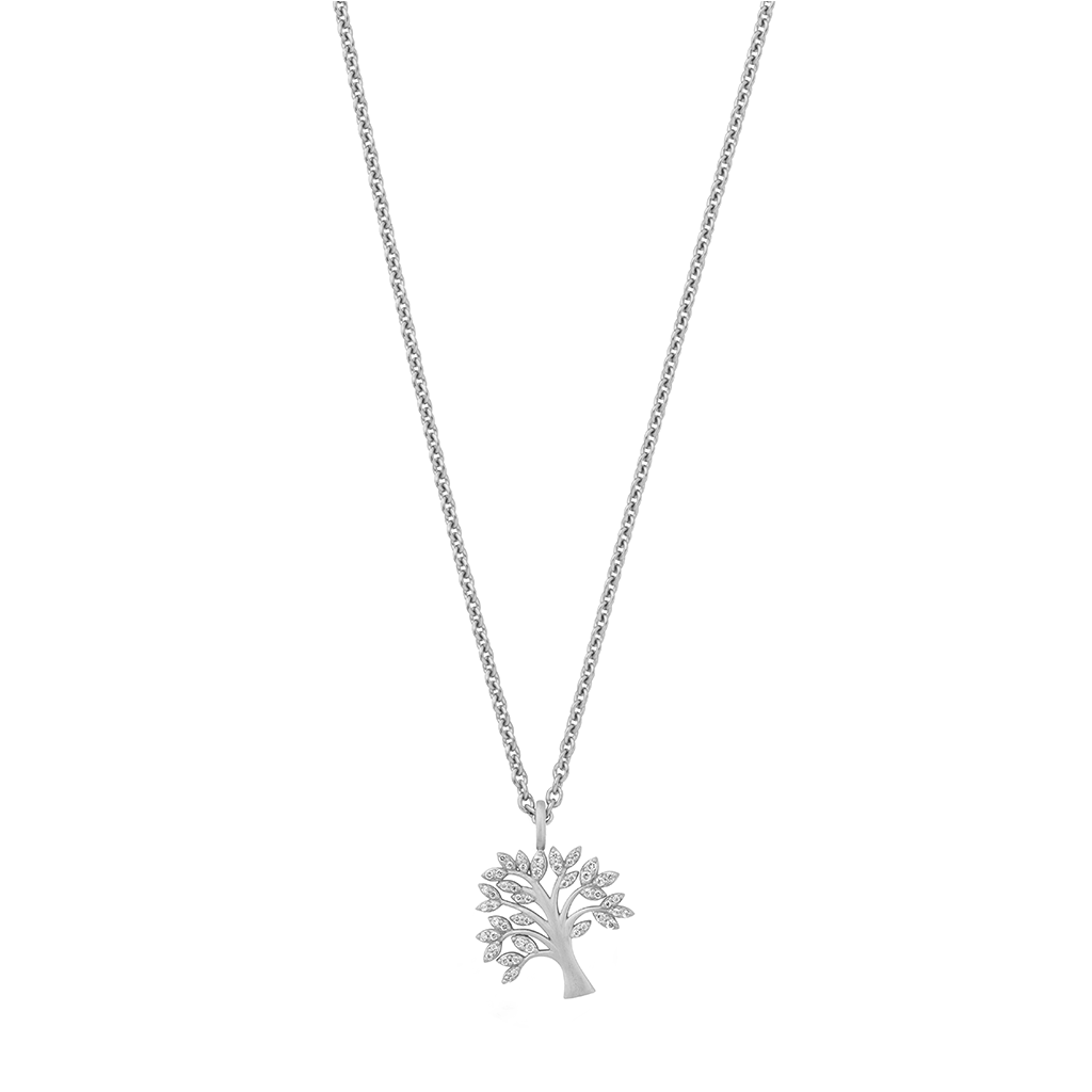 Tree of Life sparkle necklace - silver