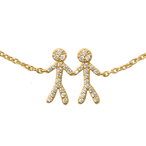 Together You & Me armbånd - gold