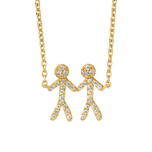 Load inn bildet i Galleriviseren Together You & Me necklace - gold