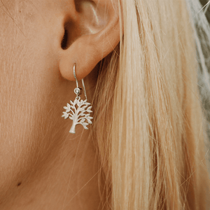 Tree of Life earring - silver