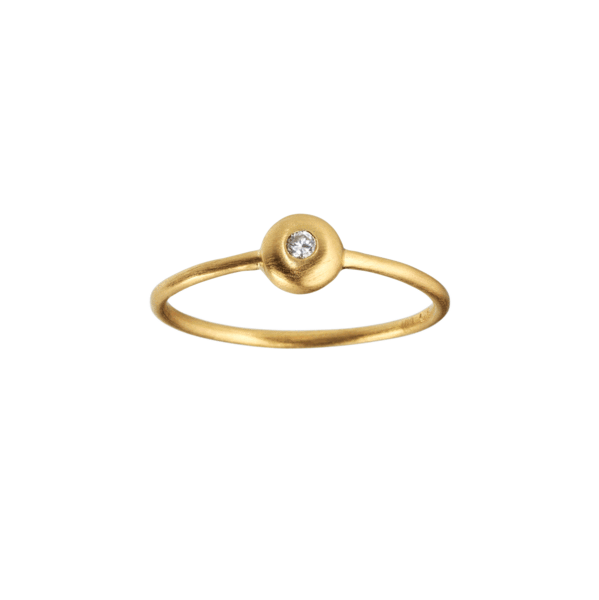 Iris diamant ring - solid gold with diamond