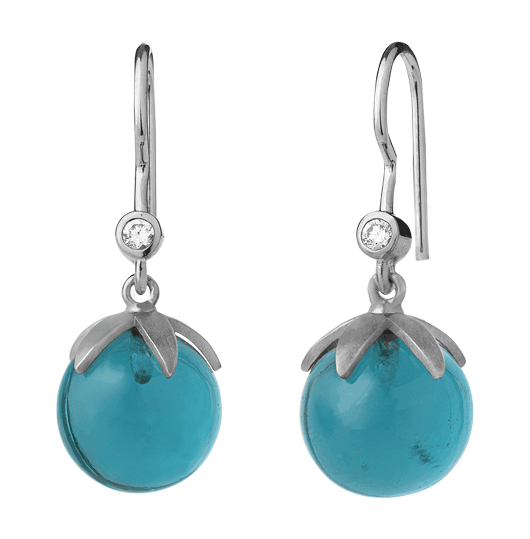 Magic earring - blue silver