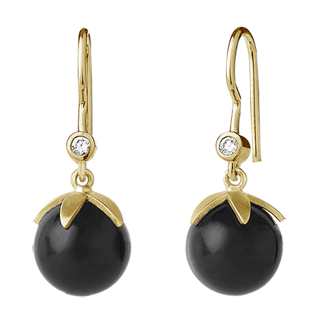 Magic earring - black gold