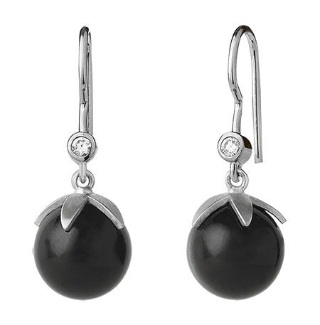 Magic earring - black silver