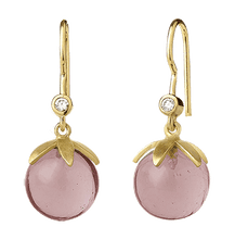 Indlæs billede til gallerivisning Magic earring - pink gold