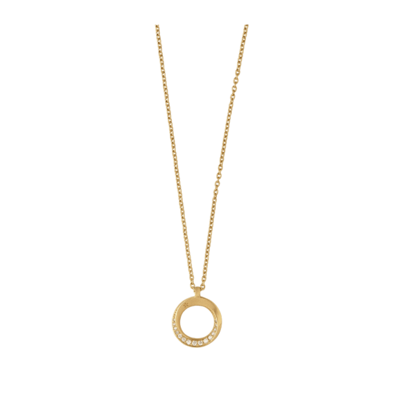 Swan necklace - gold