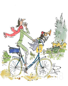 "Sir Quentin Blake | ""What this bike needs"" said Mrs Armitage"
