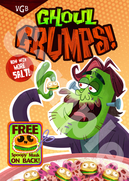 Ghoul Grumps - Halloween Exclusive Poster - Arin Version