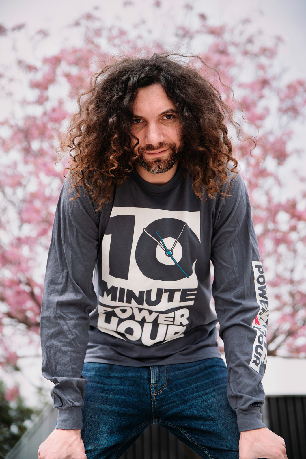 The Ten Minute Power Hour Long Sleeve Tee - Grey Variant