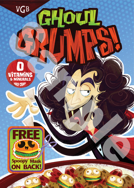 Ghoul Grumps - Halloween Exclusive Poster - Dan Version