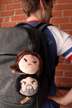 Load image into Gallery viewer, Grump Head Keychain Plushies