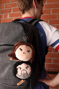 Grump Head Keychain Plushies