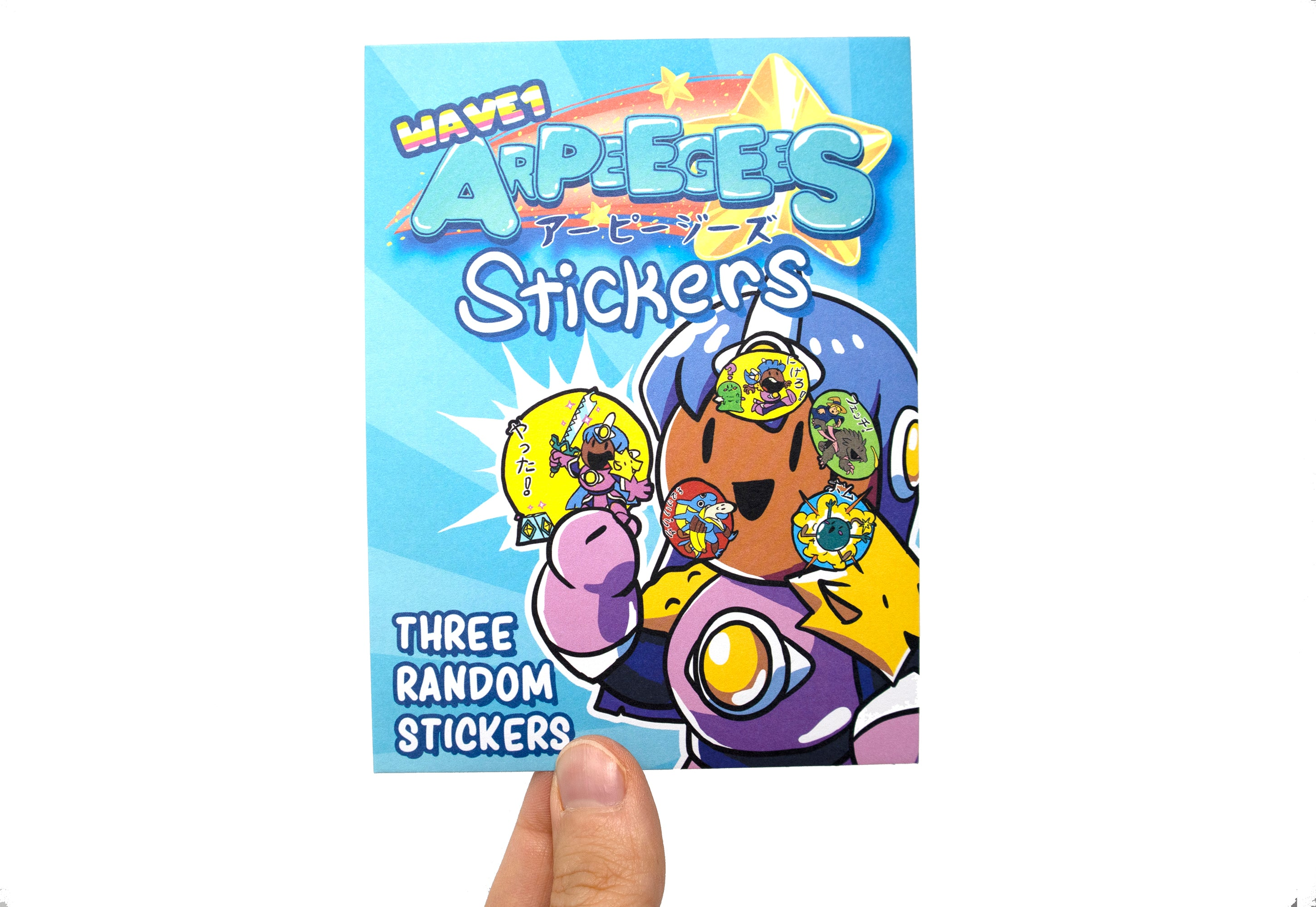 ARPEEGEES Stickers! Wave 1 Blind Pack - 3 RANDOM STICKERS