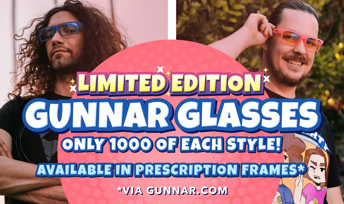 Limited Edition Gunnar Glasses