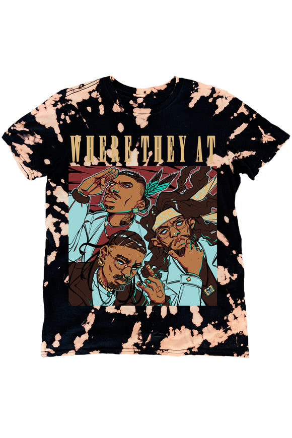 WHERE THEY AT COVER ART TEE (TIE DYE)