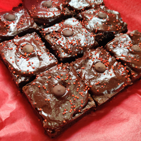 Belgian chocolate brownies