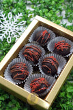 Christmas chocolate rum balls