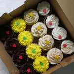 Assorted box of cupcakes