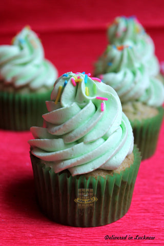 Christmas Tree Cupcakes(pack of 4)