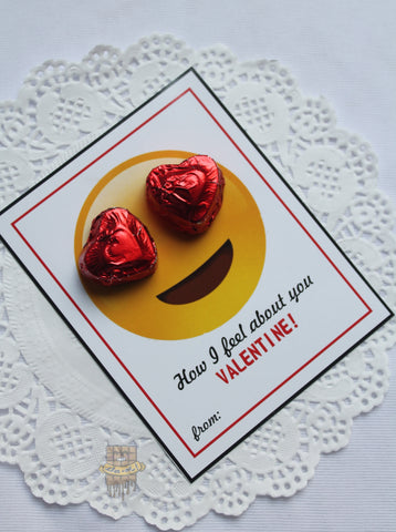 'HOW I FEEL ABOUT YOU' candy card