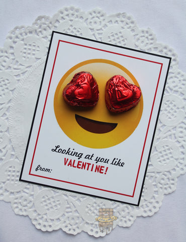 'LOOKING AT YOU LIKE' candy card
