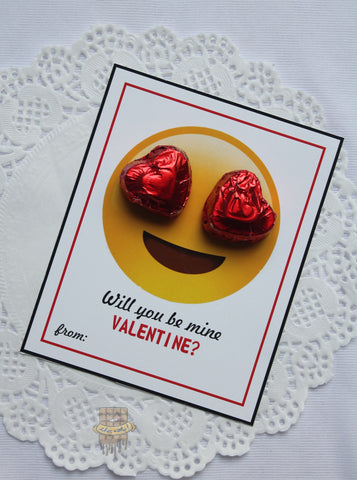 'WILL YOU BE MINE VALENTINE' candy card