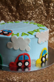 WHEELS ON THE CAR CAKE