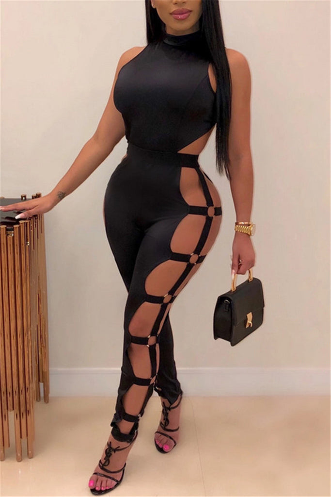 Hollow Out Sleeveless Sexy Jumpsuit