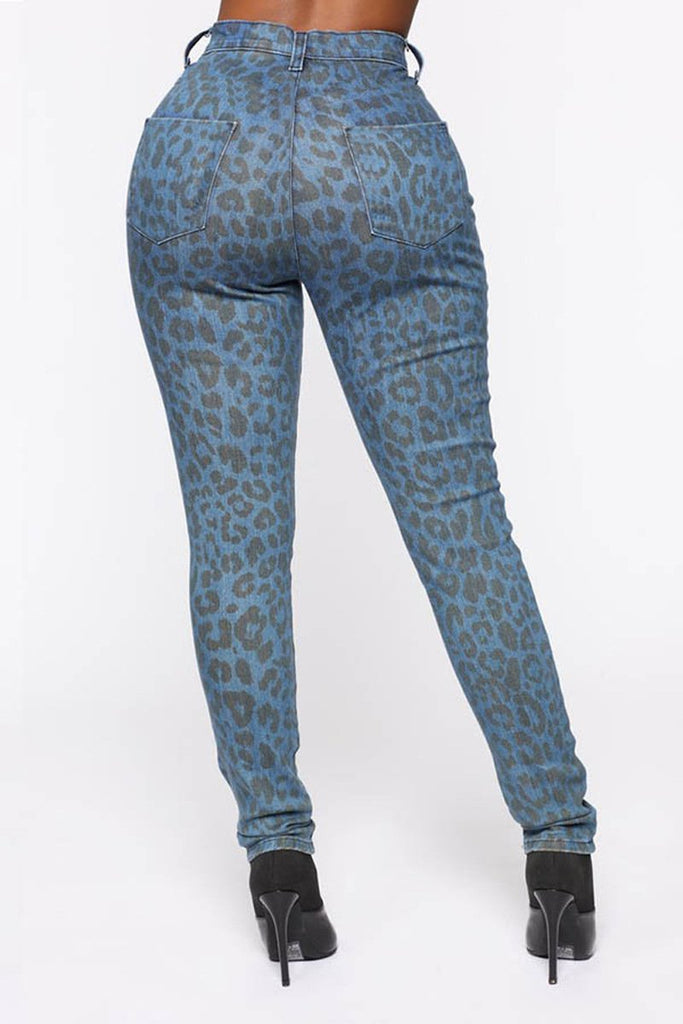 Leopard Print High Waist Pants