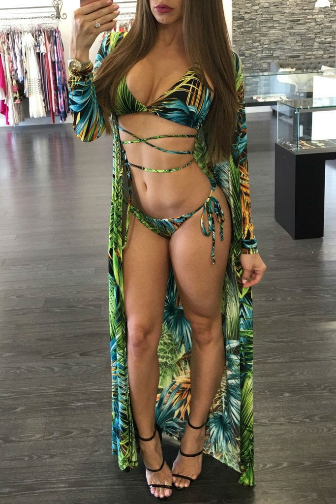Jungle Print Bikini & Cover Up