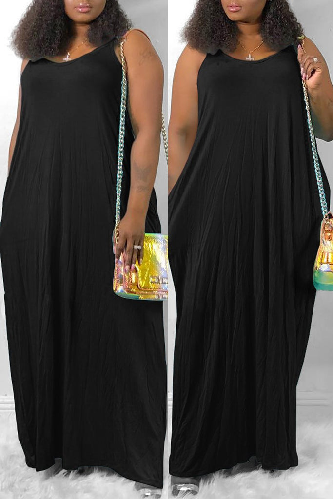 Halter Neck Sleeveless Tie Up Maxi Dress