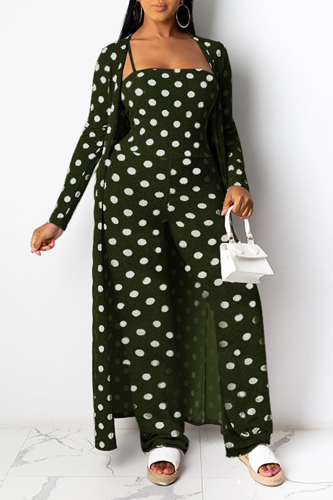 Polka Dot High-elastic Two Piece Sets