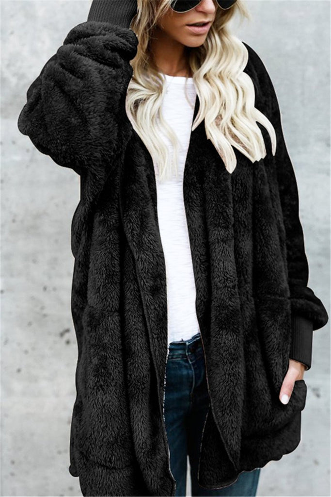Fake Fur Fleece Jacket - MISSINDRESS