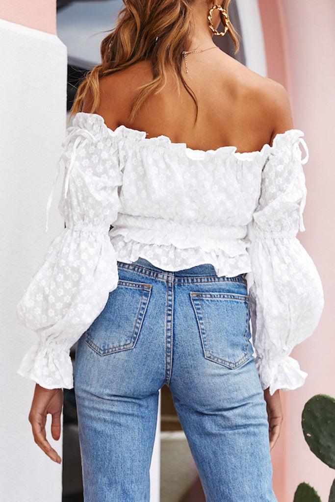 Off The Shoulder Lantern Sleeve Top